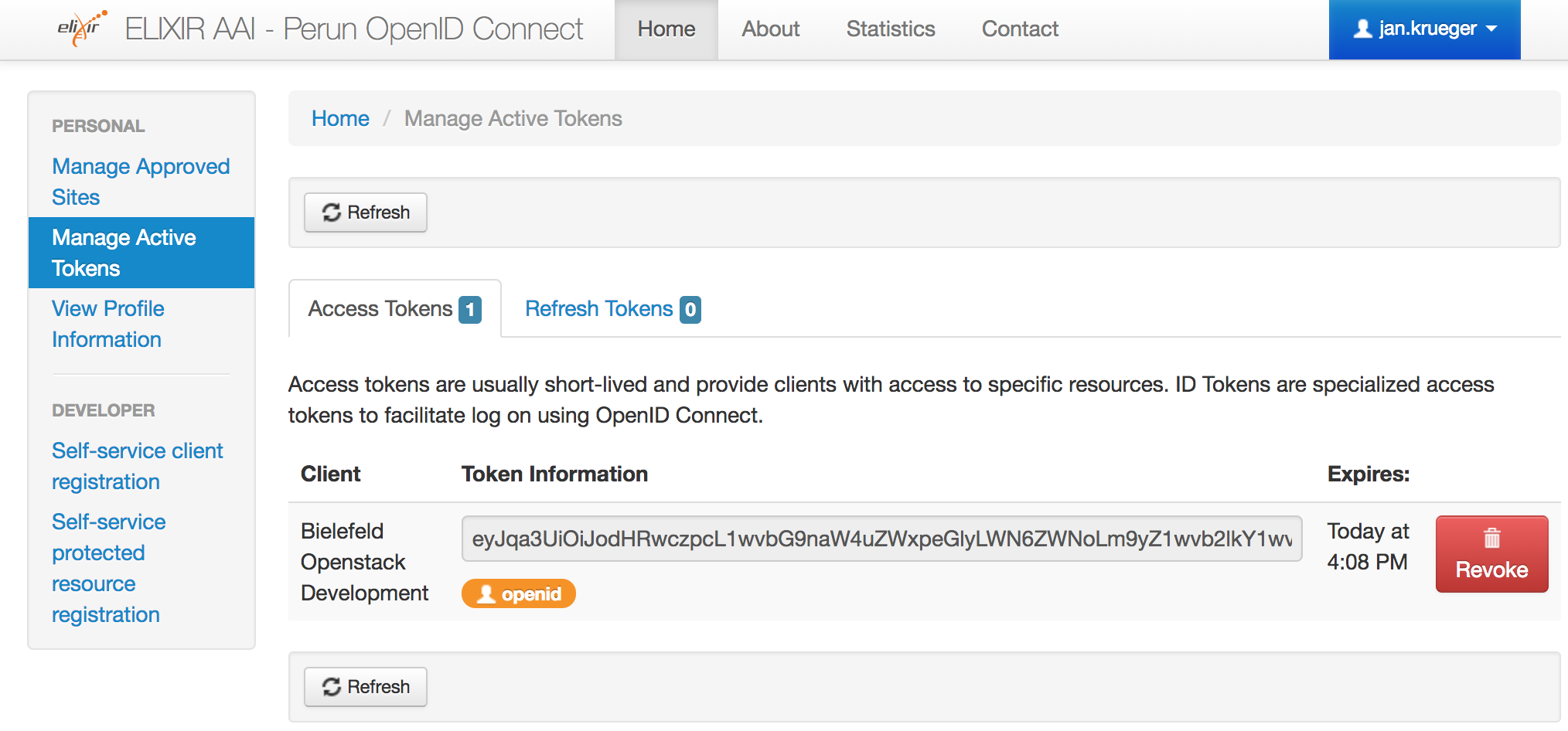 Configure OpenStack to use Elixir AAI via OpenID Connect - de NBI